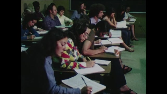 1970s: Professor lectures. Students take notes. Students listen.