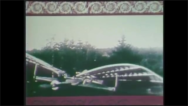 1970s: Footage of early aircraft trials, lace pattern superimposed over image.