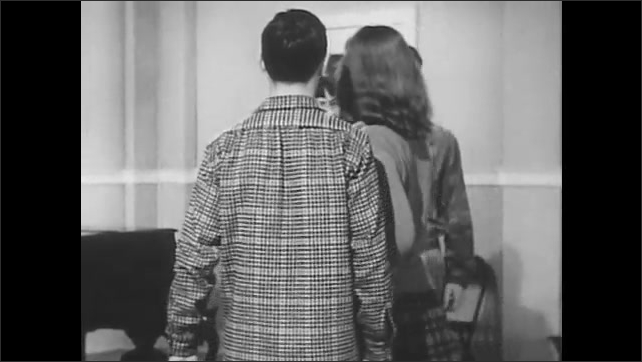 1950s:Two couples stand across from each other.  The female partners pass in the center.  Couples join hands and walk in a circle.