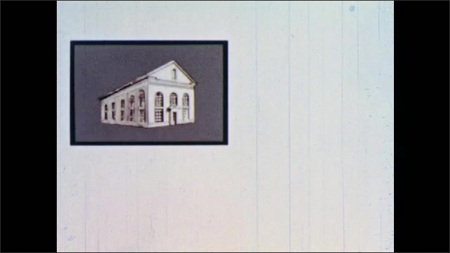 1960s: National Currency Act document. Image of building. Documents. Words State Supervisor.