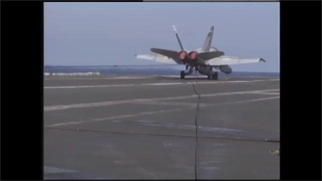 1990s: Plane lands.