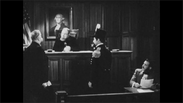 1880s:  Emperor Norton bows to judge. Judge speaks. Lawyer speaks.