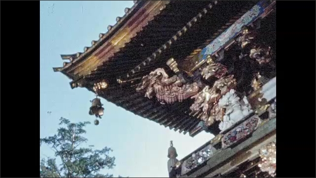 1950s JAPAN: Elaborate sculptures and decorations on Toshogu shrine.