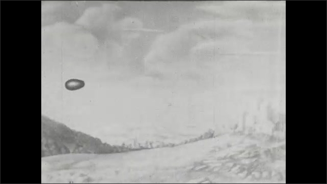 1940s: UNITED STATES: slow motion animation of bullet hitting target.