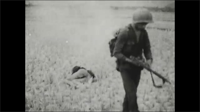 1960s: VIETNAM: photos of women and children crying. Soldier shoots man with gun