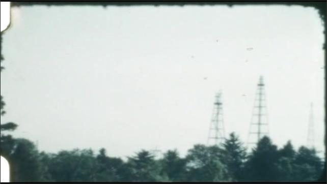 1940s: Trees.  Radio towers.