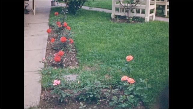 1940s: Flowers.  Sidewalk.