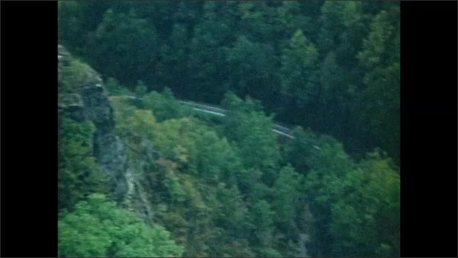 1940s: Mountains.  Canyon.  Road.