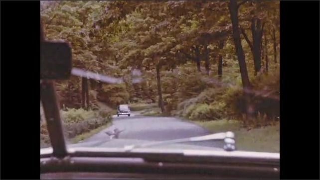 1940s: Cars drive through grounds of Biltmore Estate.
