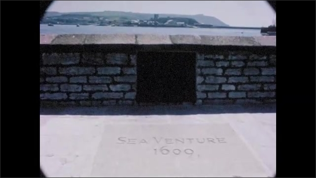 1960s:  EUROPE: ENGLAND: Visit to Plymouth in England. Mayfair memorial statue in Plymouth. Sea Venture memorial.
