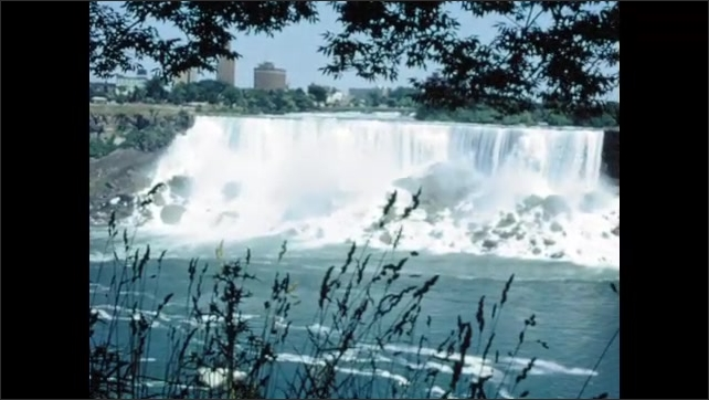 1970s: MEXICO: visit to waterfall. Niagara Falls view from above.