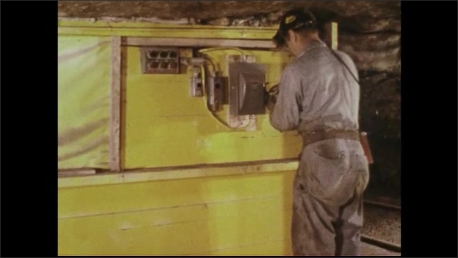 UNITED STATES 1970s : Maintenance and Repair Men at Work Inside Mine