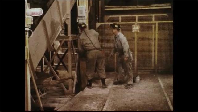 UNITED STATES 1970s : Workmen Fight Fire Inside Mine