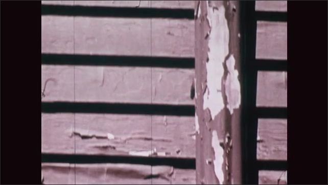 UNITED STATES 1970s: Paint Peeling Off an Iron Pipe
