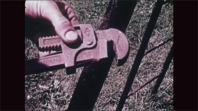 UNITED STATES 1970s: Corrosion on a Large Wrench