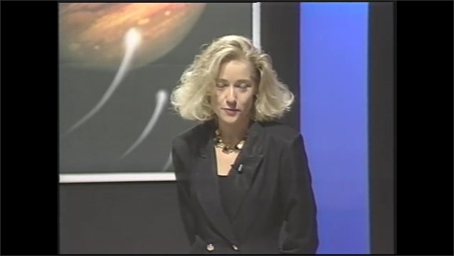 1990s: student looking through spectroscope, 1990s: host has student audience ask another question