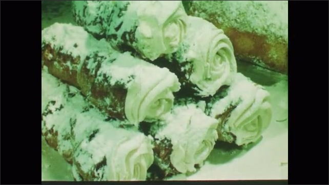 1950s: various desserts and baked goods made with sugar