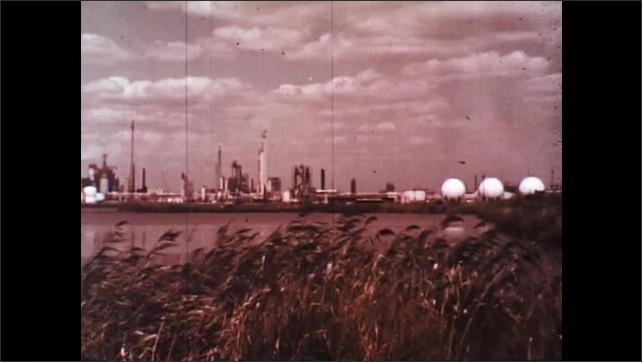 UNITED STATES 1970s: Oil Refinery and Chemical Plant Environment