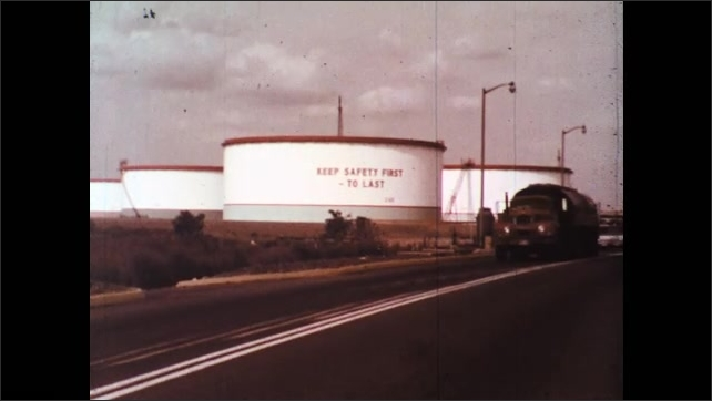 UNITED STATES 1970s: Crude Oil Tanks Storage Tanks and Transfer Pipes