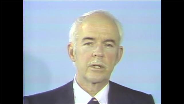 1960s: Man speaks about space program. Liquid in zero gravity.