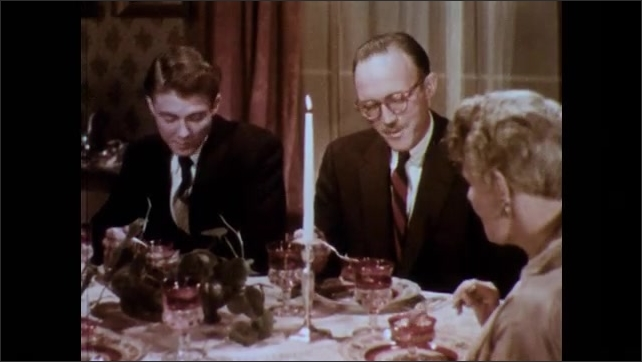 1950s: Dinner party.  People talk.