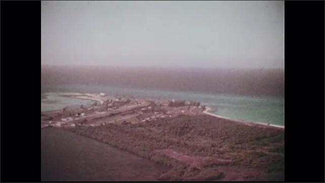 1960s: Aerial view of Bimini Island.