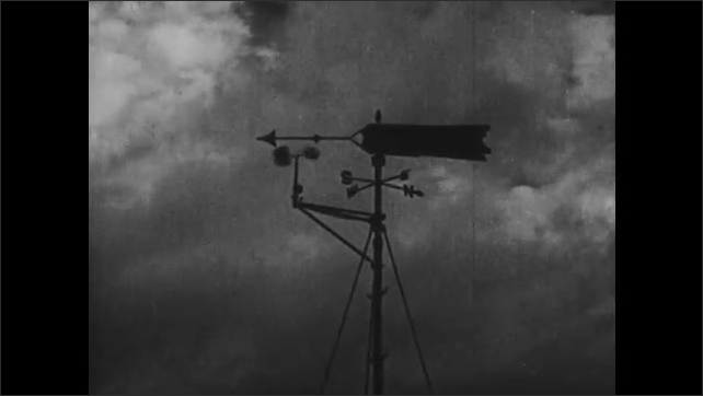 1930s: Weathervane spins.