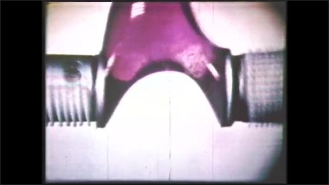 1980s: Machine spins.  Liquid breaks apart.