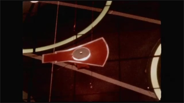1960s: UNITED STATES: ground control computer monitor shows trajectory of capsule in orbit.
