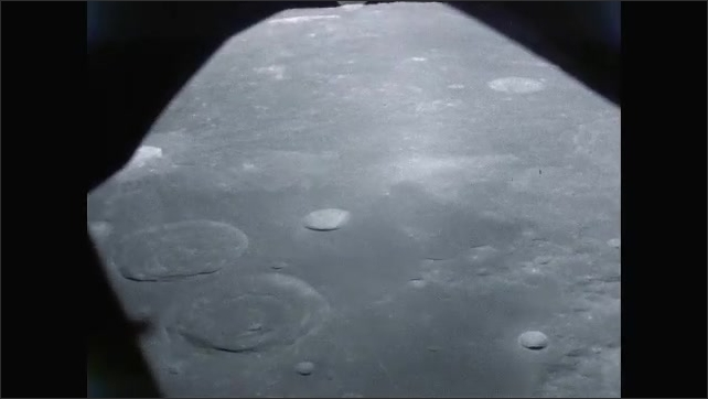 1960s: Flying over the surface of the moon.