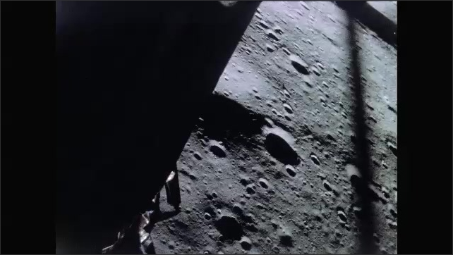 1960s: View of moon's surface from space.