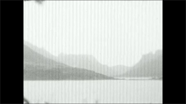 1930s: Hotel.  Mountains.  Lake.