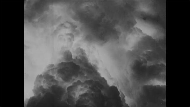 1940s: Nuclear explosion, mushroom cloud.