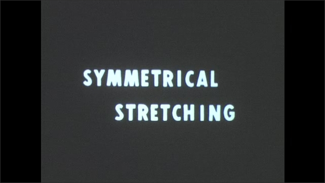 1960s: Fundamental vibrations. Symmetrical stretching. Animation of vibration of carbon dioxide molecule.