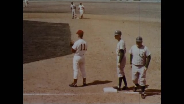 1970s: Umpire calls the batter out on the infield fly rule. Batter is out and second base holder runs back to first. Next pitch, the umpire calls it a fair ball and the first baseman drops it.