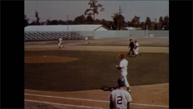 1970s: Runner crosses third base and umpire reverses home run due to missed tag. Defense team chooses out at first to cancel any runs.