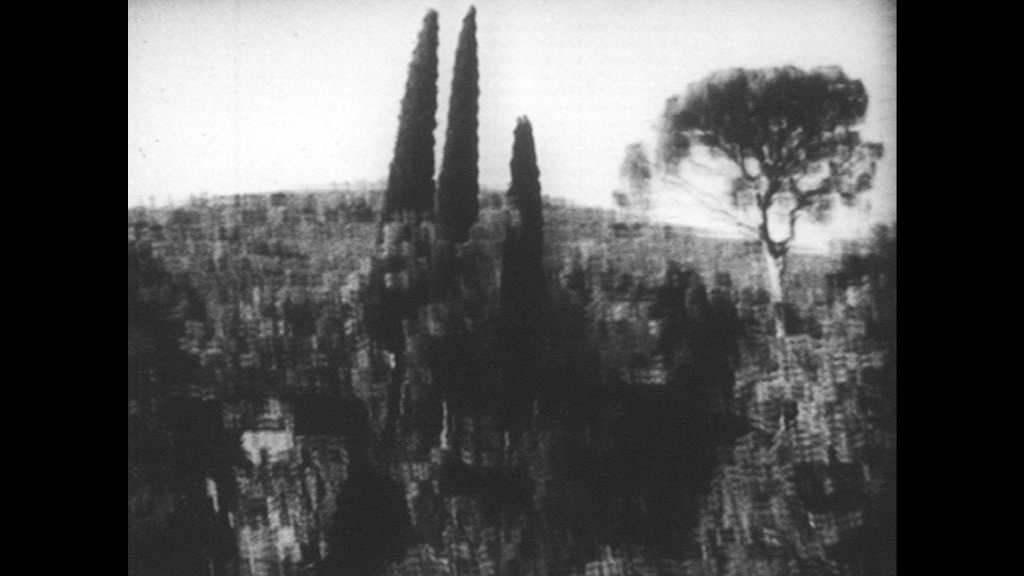 SPAIN 1930s: Hill with trees. Ruins of church in country. Mountains, hills and valleys.