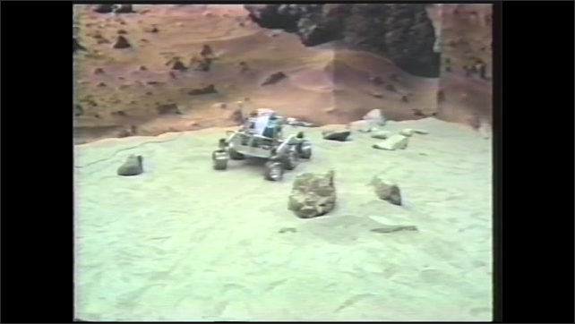 1990s: Automated micro rover turns to avoid rocks on simulated terrain. Camera on micro rover swivels.