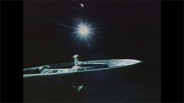 1990s:??Centrifuge spins. Mir space station rotates.????