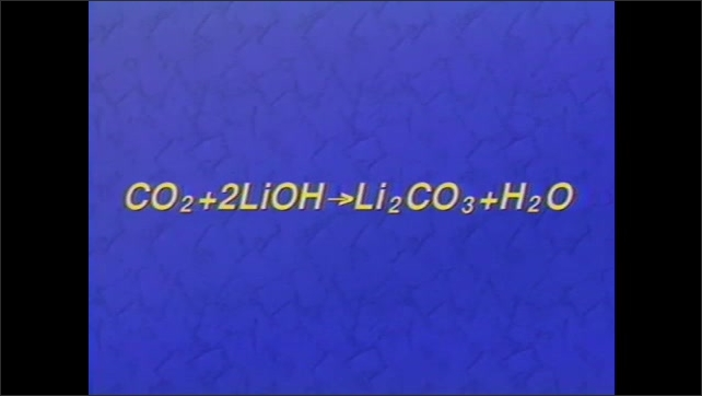 1990s: Astronaut. Intertitle card. Astronaut works in space.