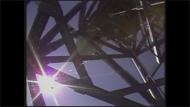 1980s: Wind turbine spins.