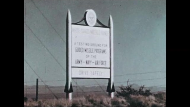 1960s: UNITED STATES: September 1962 title. Selection of astronauts. Apollo space flight testing in New Mexico. Test facility in Mississippi.