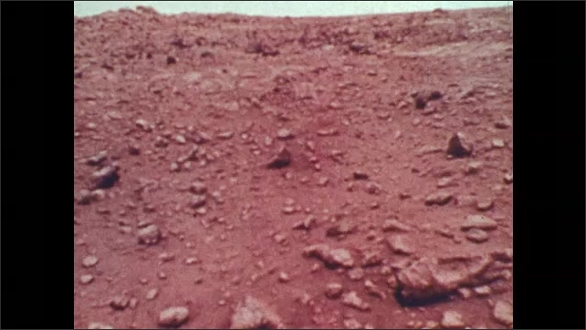 1970s: Image of Mars' surface.