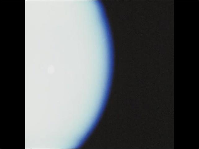 1970s: Circles of light float around sphere.