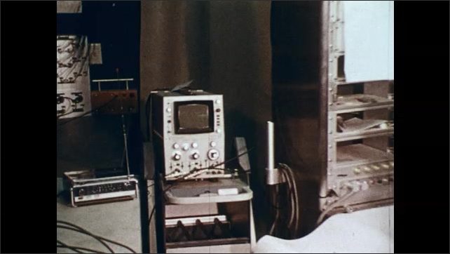 1970s: Sea lion. Man sits in front of machines, watches screens. Heart rate flashes on screen.