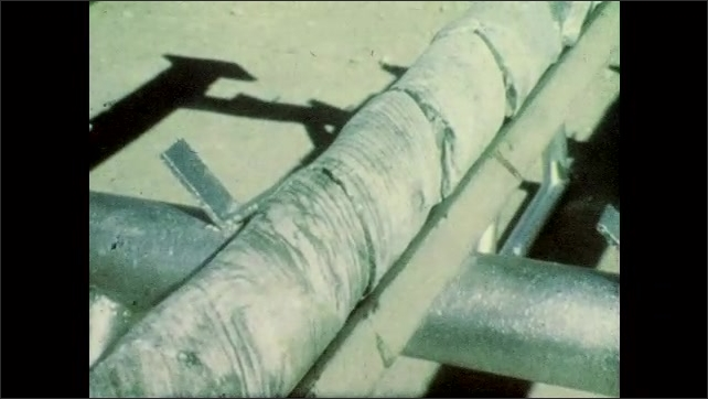 1980s: UNITED STATES: core samples on table