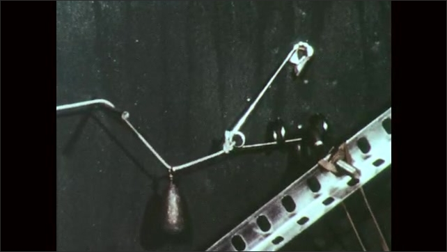 1970s: UNITED STATES: needle punctures balloon. Safety pin close up. Match moves towards candle.