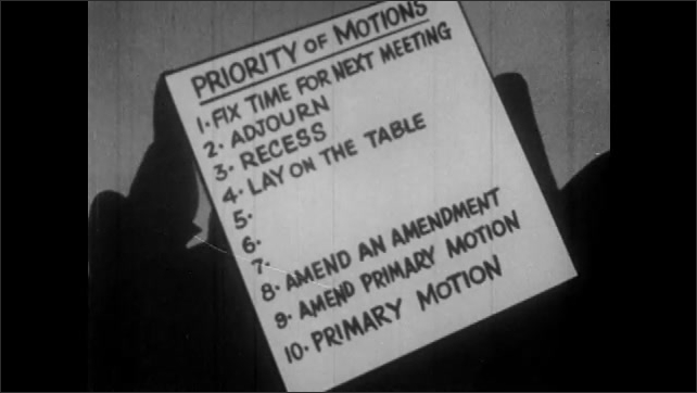 1950s: Recess comes in number 3 on list of Priority of Motions, followed by Lay on the Table at number 4. Number 5 is Postpone to Definite Time.