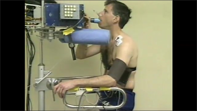 2000s:Training astronauts exercise with monitoring equipment, running and cycling. Astronauts are fitted for space suits.