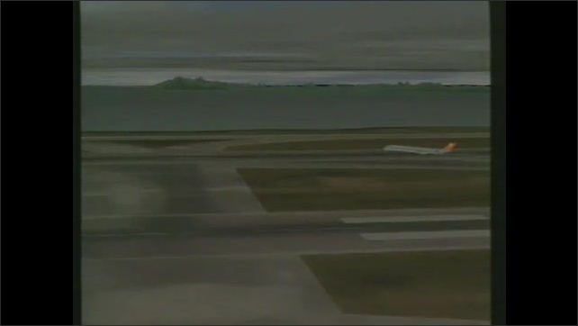 1990s: Animation on planes on airport runways.